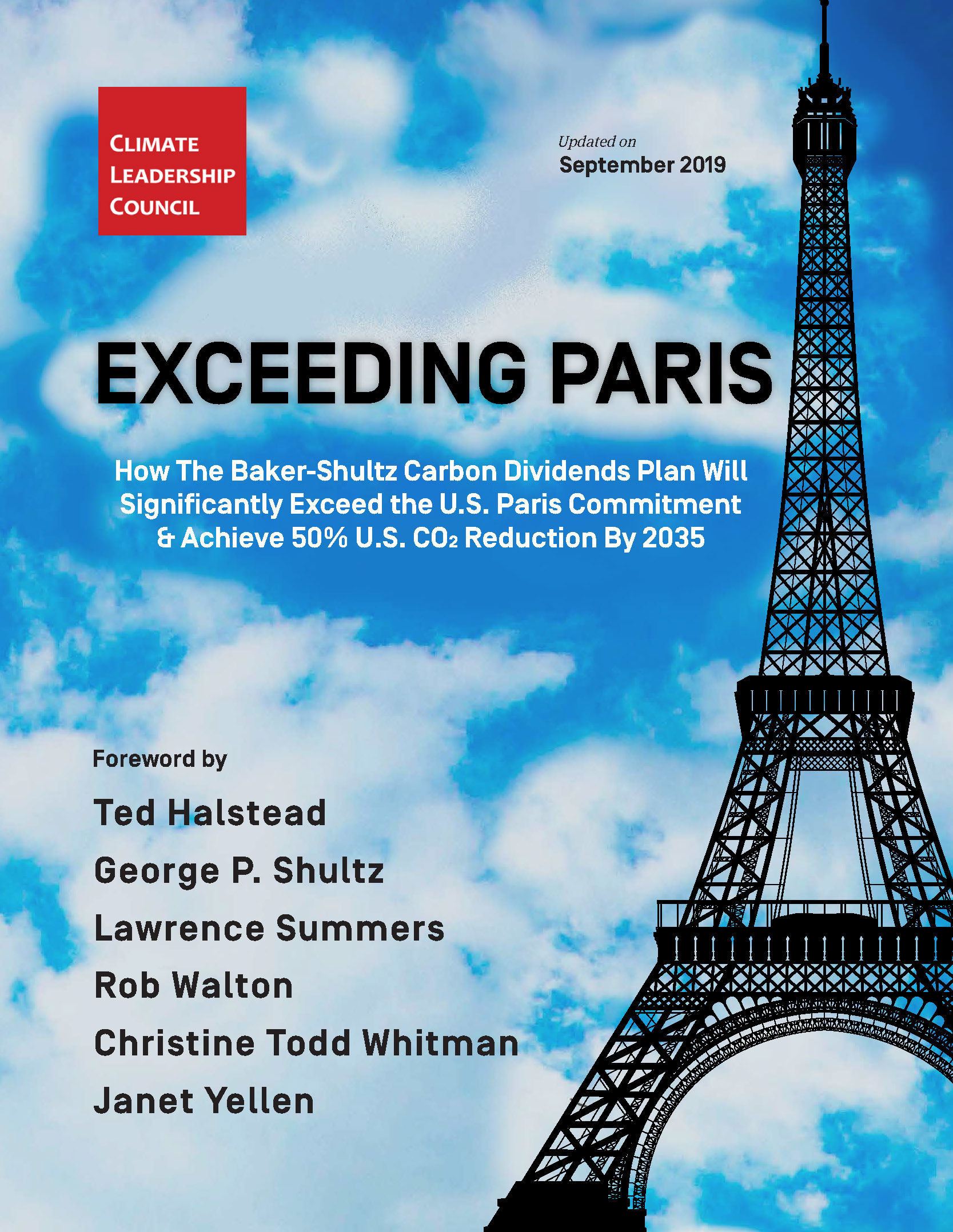 Report cover with Eiffel Tower