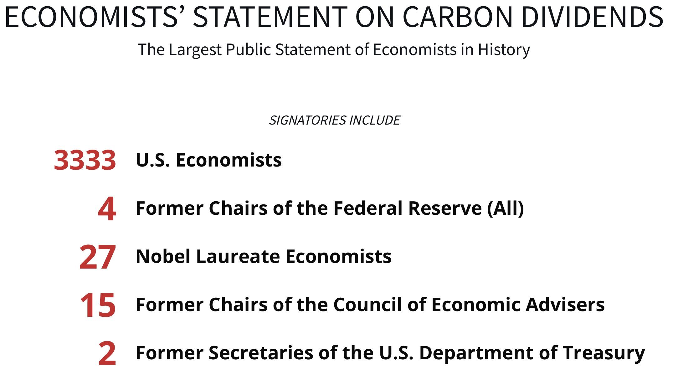 Economists\' Statement | Climate Leadership Council