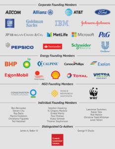rows of logos the founding members of CLC